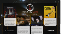 screenshot of HomebodyMusic website