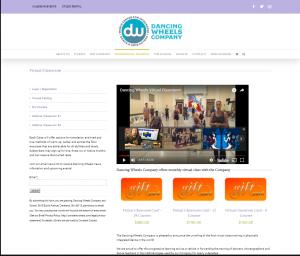 screenshot of DancingWheels Virtual Classroom for Tempesta Web Engineering in Warren, Oh