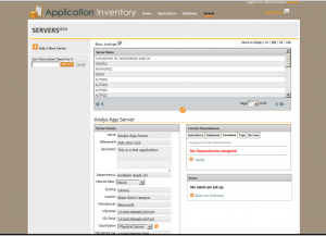 screenshot of application inventory by Tempesta Web Engineering in Warren, Oh