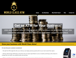 screenshot of world-classatm.com for Tempesta Web Engineering in Warren, Oh