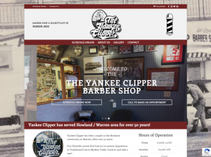 screenshot of Yankee Clipper website for Tempesta Web Engineering in Warren, Oh