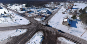 drone shot of southington ohio web design